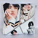 Подушка k-pop 40х40 см із змінною наволочкою BTS - Jungkook, фото 3