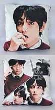 Подушка k-pop 40х40 см із змінною наволочкойВТЅ - Ві