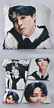 Подушка k-pop 40х40 см із змінною наволочкою BTS - Jimin