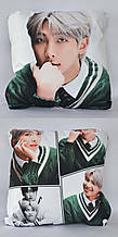 Подушка k-pop 40х40 см із змінною наволочкою BTS - Rap Monster