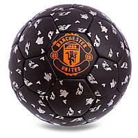 Мяч футбольный МЮ МАНЧЕСТЕР ЮНАЙТЕД MU MANCHESTER UNITED 5 размер черный (СПО FB-0619)