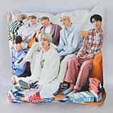 Подушка k-pop 40х40 см із змінною наволочкой BTS, фото 3