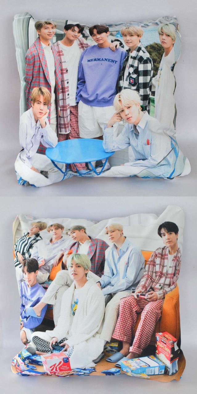 Подушка k-pop 40х40 см із змінною наволочкой BTS