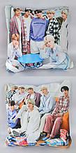 Подушка k-pop 40х40 см із змінною наволочкою BTS
