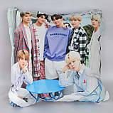 Подушка k-pop 40х40 см із змінною наволочкой BTS, фото 2