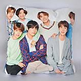 Подушка k-pop 40х40 см із змінною наволочкою BTS, фото 2