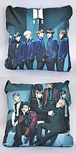 Подушка k-pop 40х40 см із змінною наволочкою наволочкою BTS