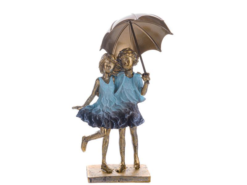 Статуэтка Lefard Друзья под зонтом 21 см 192-067 фигурка друзей мальчик и девочка