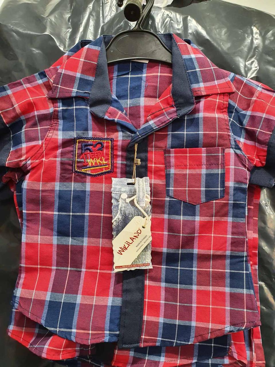 Акция!!! Детская рубашка Wikiland (1-4)