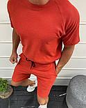 Мужской летний комплект футболка + шорты красного цвета Турция. Живое фото, фото 2