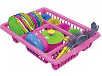 """Посуда детская """"Кухонный набор с сушилкой""""  Технок 3282"""