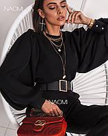 Женская Блуза с пышными рукавами (разные цвета)42-46