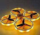 Квадрокоптер Drone TRACker Ultra Yellow дрон с сенсорным управлением жестами руки Квадрокоптеры Дрон, фото 6