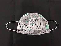 Маска лицевая защитная текстильная детская