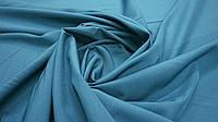 Одежная ткань софт однотонный сине-зеленый, фото 1