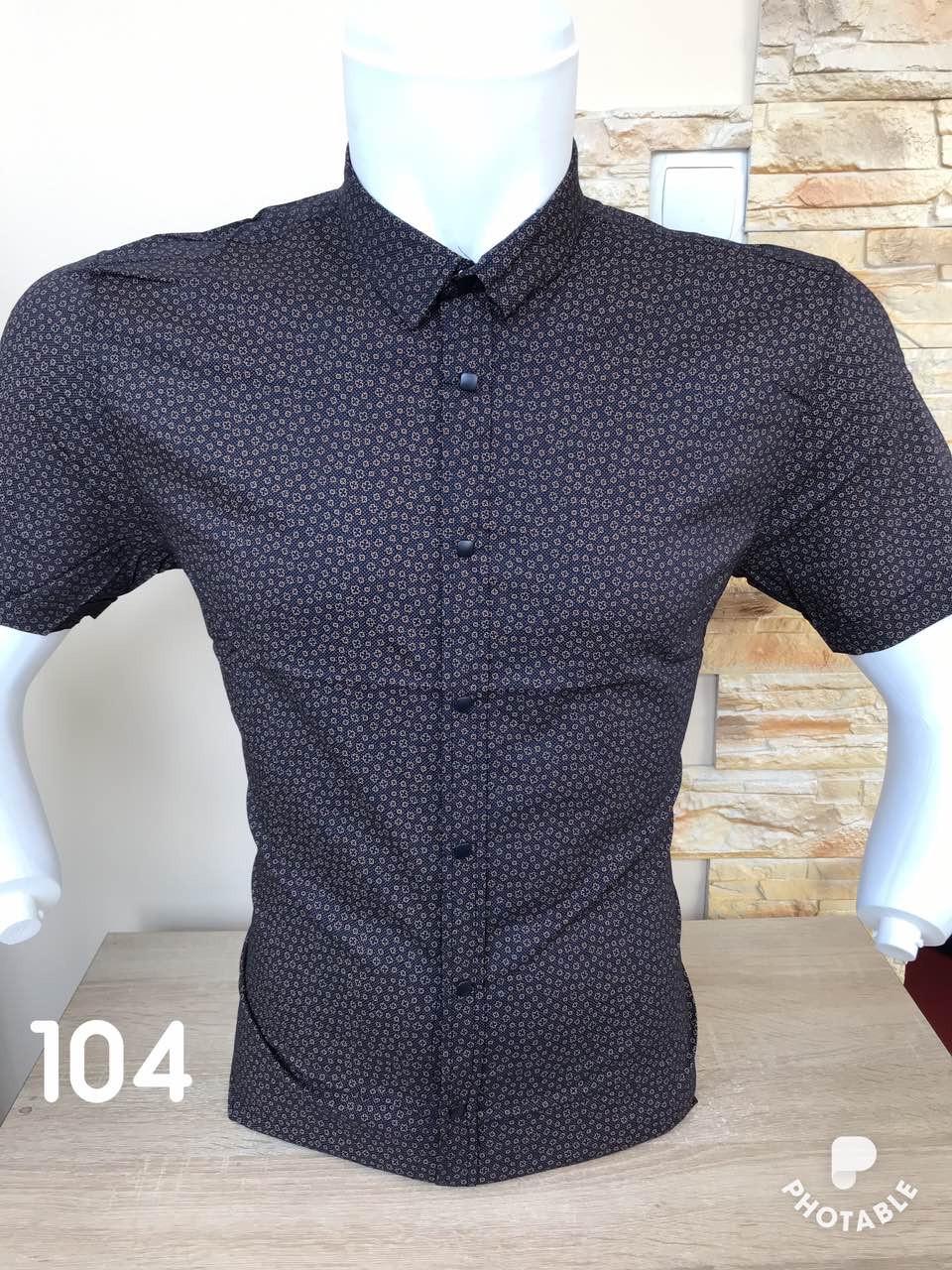 Рубашка короткий рукав Black Stone с принтом