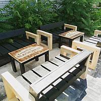 Стильный деревянный комплект, набор мебели для дома, сада, кафе или ресторана