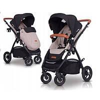 Комфортабельная прогулочная коляска для ребенка EasyGo Optimo air sand