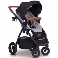 Комфортабельная прогулочная коляска для ребенка EasyGo Optimo air grey fox
