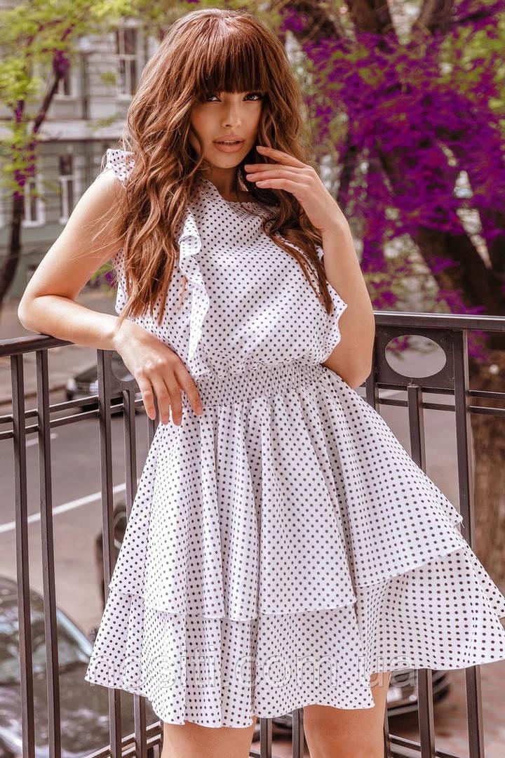 Женское летнее платье в горошек по низкой цене