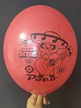 """Латексный шар с рисунком Вrаwl stаrs Poco красный 001 12 """"30см Belbal ТМ"""" Star """""""