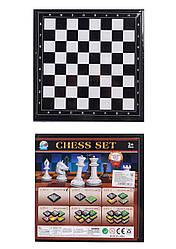 "Шахматы ""3в1"", шашки, нарды, в кор. 20*20*3см /96-2/"