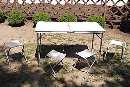Стол складной для пикника + 4 стула. А-Плюс 6001