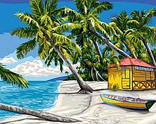 """Картина по номерам. Rainbow Art """"Райский островок"""""""