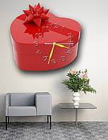 Креативные часы на стену фигурные Erpol Сердечный сюрприз 30x30 см