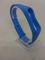 Силіконовий ремінець/браслет на Mi Band 2/MiBand 2/мі бенд 2 синій