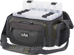 Сумка DAM Medium Spinning Bag для рыбалки +4коробки  36x25х20см