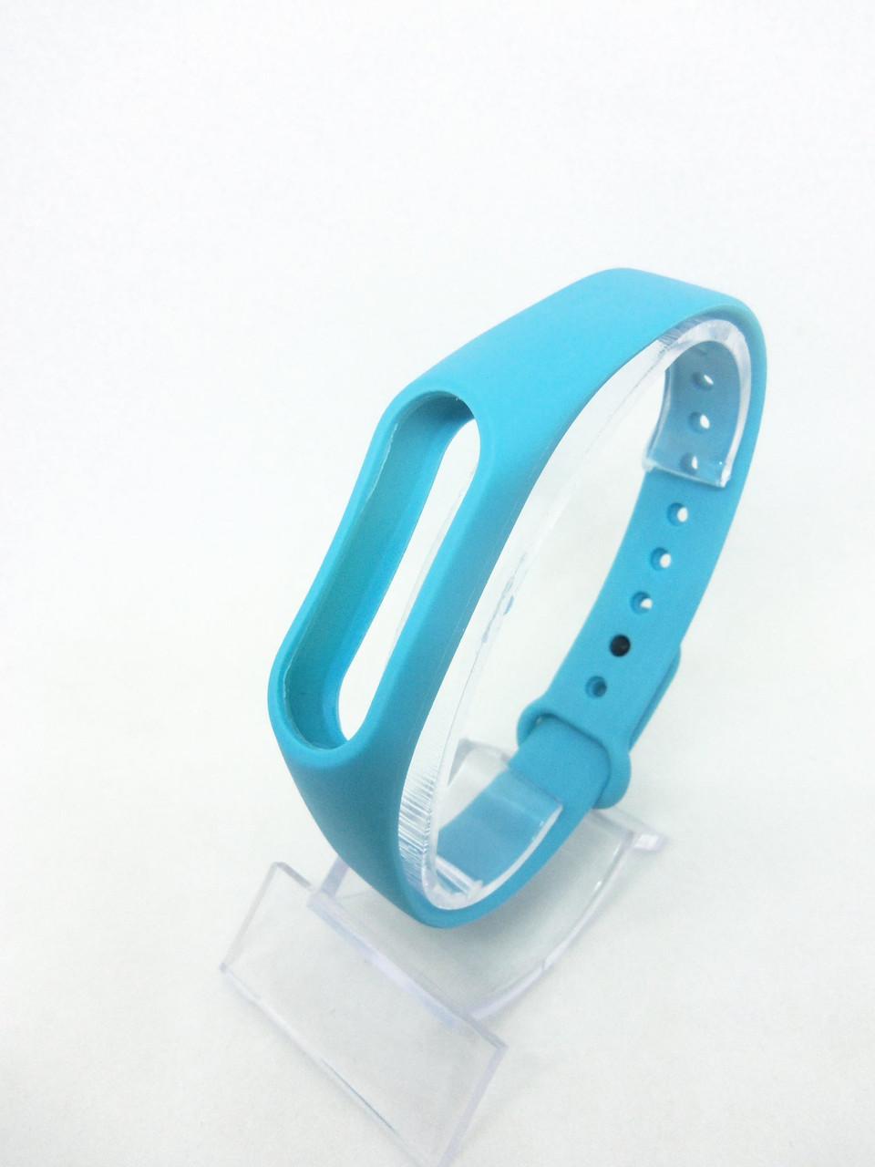 Силіконовий ремінець/браслет на Mi Band 2/MiBand 2/мі бенд 2 блакитний