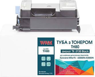 Картридж WWM (TH80) Kyocera Mita FS-4200DN/4300DN Black (аналог TK-3130) с чипом