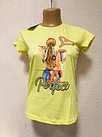 Женские футболки хлопок Турция размеры S-XL (42-48) ростовка