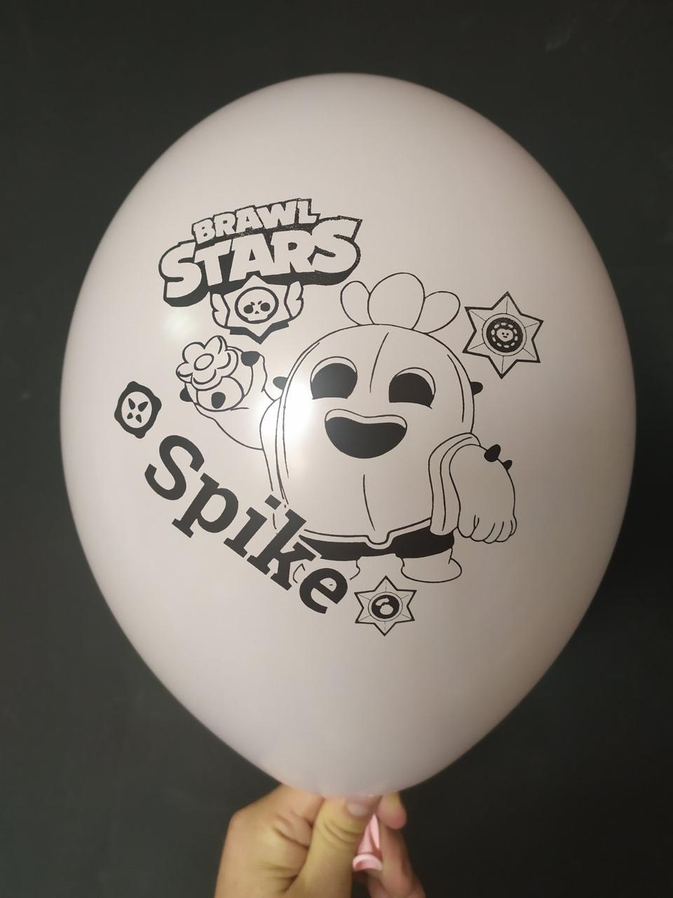"""Латексна кулька з малюнком Вrаwl stаrs Spike макарун рожевий 454 12"""" 30см Belbal ТМ """"Star"""""""