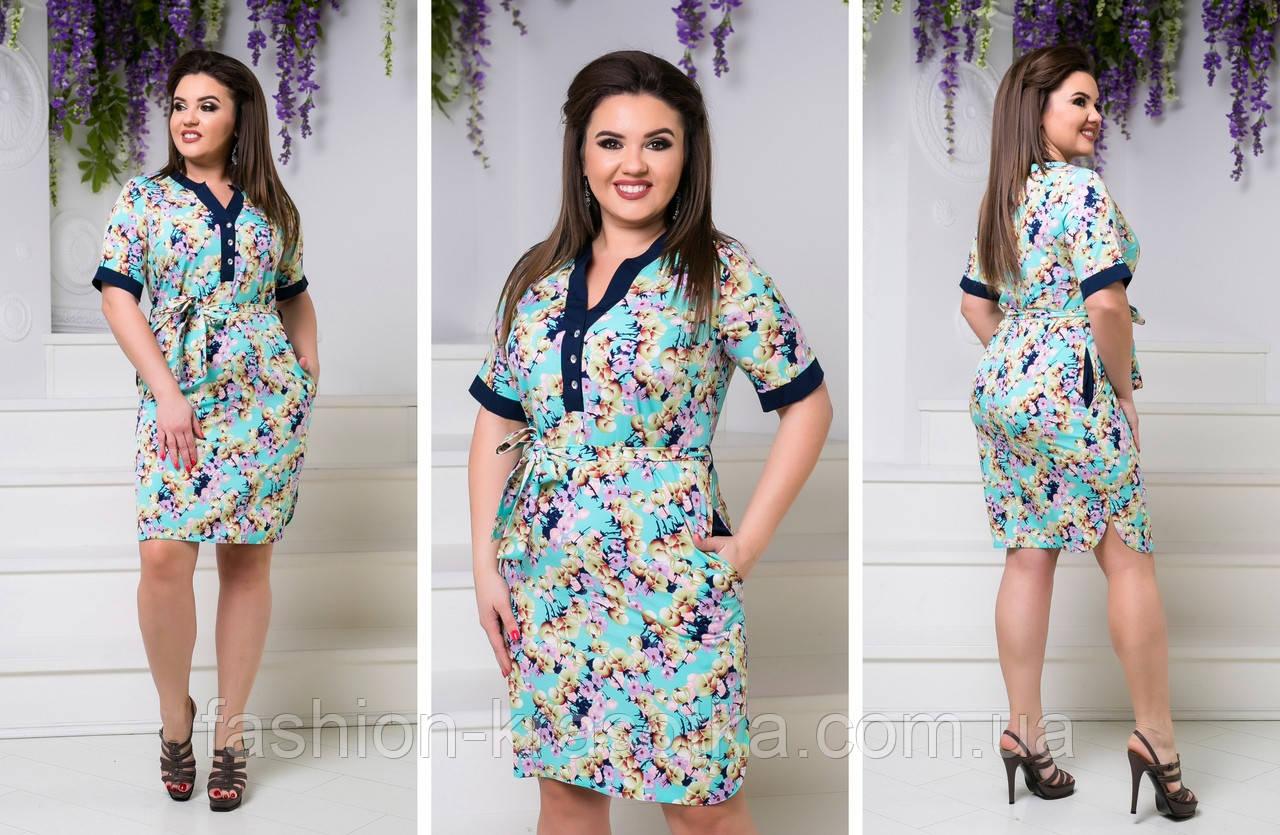 Легкое летнее платье,размеры:48,50,52,54.