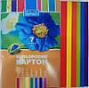 Картон цветной А4, (21х30см) 7листов Кол уп25