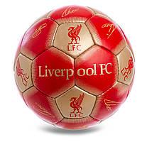 Футбольний м'яч 5 розмір ЛИВЕРПУЛЬ LIVERPOOL Ручний шов Червоний (FB-0616)