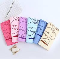 Женское полотенце халат для сауны и бани микрофибра (034989) Синий