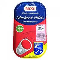Філе макрелі в томатному соусі Nixe Mackerel fillets in tomato sauce 125 г