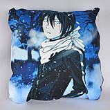 Подушка аніме 40х40 см із змінною наволочкой Noragami, фото 2
