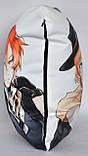 Подушка аніме 40х40 см із змінною наволочкою Дазай і Відчуваючи, фото 4