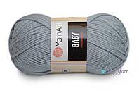 YarnArt Baby, Серый №3072