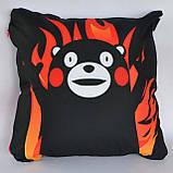 Подушка аніме 40х40 см із змінною наволочкою Кумамон, фото 2