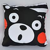 Подушка аніме 40х40 см із змінною наволочкою Кумамон, фото 3