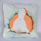 Подушка аніме 40х40 см із змінною наволочкою Догі, фото 3