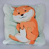 Подушка аніме 40х40 см із змінною наволочкою Догі, фото 2