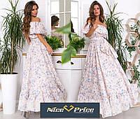 Шикарное летнее платье - сарафан в пол 42-44-46,48-50-52