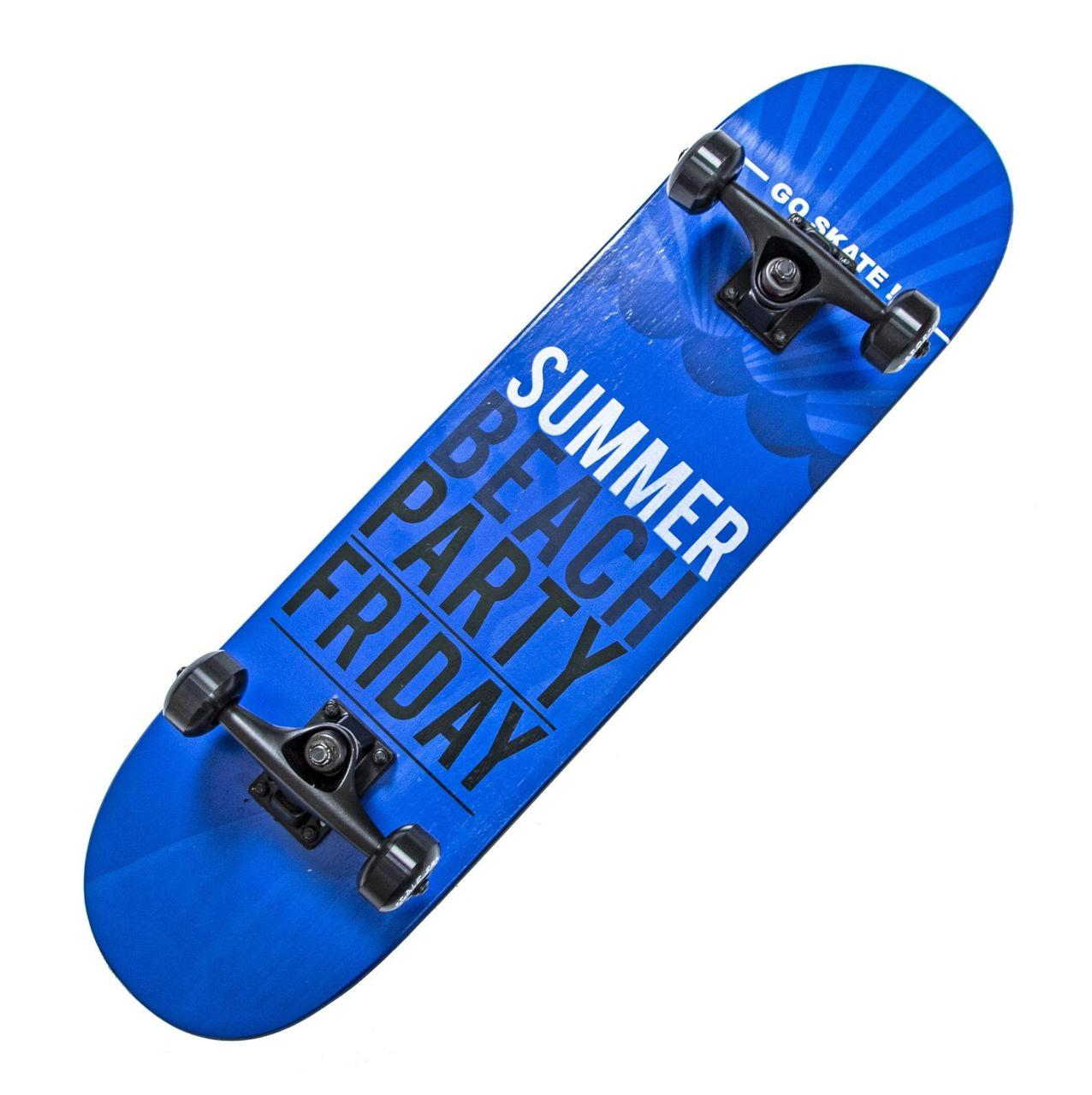 "СкейтБорд ""SUMMER"" синий Scale Sports"