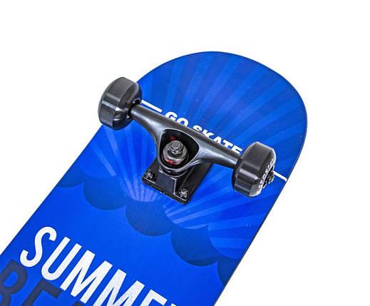 """СкейтБорд """"SUMMER"""" синий Scale Sports, фото 2"""